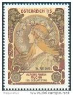 Autriche Austria 2010 - Alphonse Mucha, Peintre, Art Nouveau / Alfons Mucha, Art Nouveau - MNH - Modern