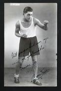 FRANK MIGOM *  FOTOKAART * HALLEUX * BERCHEM-ANTWERPEN * FOTOKAART * TOPKAART MET ORIGINELE HANDTEKENING * 1945 - Boxing