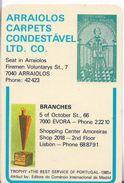 Pocket Calendar Advertising ARRAIOLOS CONDESTÁVEL ARRAIOLOS 1989 - Calendriers
