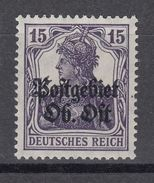 Deutsche Besetzung I WK 1914/1918 Ost 7 A Postfrisch Geprüft - Occupation 1914-18