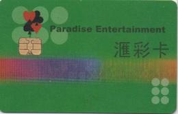 Carte De Membre Casino : Paradise Entertainment Macau Macao - Casino Cards