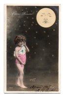 (Enfants) 731, Portrait D'enfant, ELD 4036, Fillette Nue Avec La Lune, Lune Rousse, Sazerac - Portraits