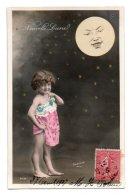 (Enfants) 732, Portrait D'enfant, ELD 4036, Fillette Nue Avec La Lune, Nouvelle Lune, Sazerac - Portraits