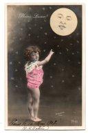 (Enfants) 733, Portrait D'enfant, ELD 4036, Fillette Nue Avec La Lune, Pleine Lune, Sazerac - Portraits