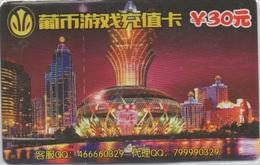 Carte Prépayée Casino : Grand Lisboa Macau Macao (Carton État Mint) : 30 Patacas ? Valable Jusqu'au 30/09/2018 - Casino Cards