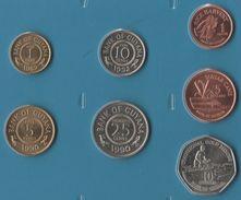 GUYANA COIN SET 7 MONNAIES: 1 CENT - 10 DOLLARS 1989 - 2002 - Guyana