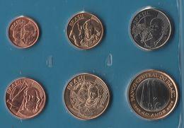 BRASIL COIN SET 6 MONNAIES: 5 CENTAVOS - 1 REAL 2004 - 2005 BANCO CENTRAL - Brésil