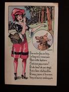 """CPA  Humouristique Illustrateur A. Wuyts """"le Chaperon Rouge"""" Coquine  érotisme Femme Fantaisie Parisiennes - Wuyts"""