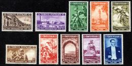 TURKEY 1938 - Yv.884-893 (Mi.1019-1028, Sc.789-798) MNH  (VF) - 1921-... République