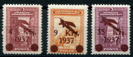 TURKEY 1937 - Mi.1016-1018 (Yv.YA6-8, Sc.C6-8) 2MNH-1MLH (VF) - Airmail