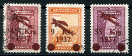 TURKEY 1937 - Mi.1016-1018 (Yv.YA6-8, Sc.C6-8) Used Set (VF) - 1921-... République