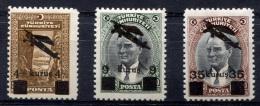 TURKEY 1942 - Mi.1110-1112 MNH (postfrisch) Perfect (VF) - Airmail