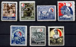 TURKEY 1944-45 - Mi.93-99 MNH (postfrisch) Perfect (VF) - 1921-... République