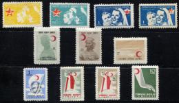 TURKEY 1954 - Mi.176-184 Incl. Shades MNH  (postfrisch) Perfect (VF) - 1921-... Repubblica
