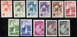 TURKEY 1956 - Mi.201-211 MNH  (postfrisch) Perfect (VF) - 1921-... République