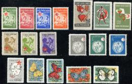 TURKEY 1957-58 - Mi.229-246 MNH  (postfrisch) Perfect (VF) - 1921-... Repubblica