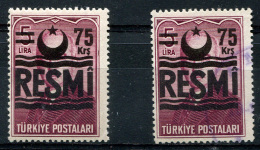 TURKEY Official 1956 - Mi.38 MNH (postfrisch) And Used (VF) - 1921-... Republik