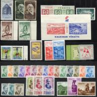 TURKEY 1956 Compl. - Mi.1476-1514 MNH (postfrisch) VF - Années Complètes