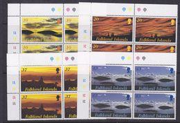 Falkland Islands 2001 Sunrise & Sunset 4v  Bl Of 4 ** Mnh (36952C) - Falkland Islands