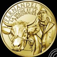 13 MARSEILLE FERNANDEL LA VACHE ET LE PRISONNIER MÉDAILLE ARTHUS BERTRAND 2010 JETON MEDALS TOKEN COINS - Arthus Bertrand
