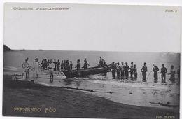 Guinée Equatoriale - Stª Isabel - Fernando Póo - Pescadores. - Guinea Ecuatorial