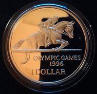 "BERMUDA 1 DOLLAR 1996 SILVER PROOF ""OLYMPIC GAMES 1996"" - Bermuda"