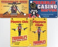 Lot De 4 Cartes Casino Terrible's (Pahrump, Dayton, Lagrange, St.Joseph) - Casino Cards