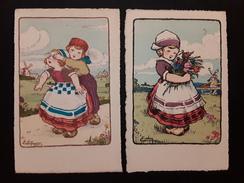 2 Jolies CPA  ILLUSTRATEUR EDY Paris  Enfants  J. PICOT Edit. 9, Av De L'opéra Paris - Illustrateurs & Photographes