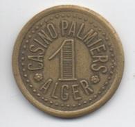 Jeton De Slot Machine à Sou : Casino Palmiers Alger Algérie (Diamètre 24 Mm) - Casino