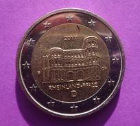 2017  ~~  F ~~ Germany  2  EURO   EIRO CIRCULEET COIN  ALLEMAGNE  RHEINLAND - PFALZ - Duitsland
