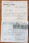SOC. ITALIANA DERMATOLOGIA E SIFILOGRAFIA ROMA 1925  BUSTA CON LETTERA AL DR.GIULIANO GIULIANI PONTREMOLI - 1900-44 Victor Emmanuel III