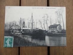 CPA 14 CANAL DE CAEN A LA MER PASSAGE D'UN STEAMER - Caen