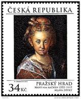 Czech Republic - 2015 - Prague Castle: Hans Von Aachen - Head Of A Woman - Mint Stamp - Tsjechië