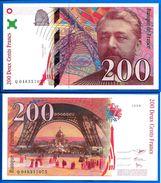 France 200 Francs 1996 Eiffel Frcs Frs Frc Serie Q Que Prix + Port Paypal Skrill Bitcoin - 200 F 1995-1999 ''Eiffel''