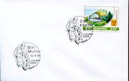 27401 San Marino, Special Postmark  2004,  Sculpture Of Michelangelo - Sculpture