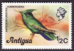 ANTIGUA   1976  -  YT  397  -  Antillean Crested Hummingbird - Orthorhynchus Cristatus -  NEUF** - Antigua & Barbuda (...-1981)