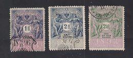 3 Austria Revenue 1, 2 + 2 1/2 Fl. 1893 - Steuermarken