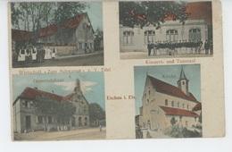 """ESCHAU - Wirtschaft """"ZUM SCHWANEN """" V. V. EDEL , Kirche, Gemeindehaus , Konzert-und Tanzsaal - Sonstige Gemeinden"""