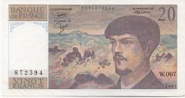 20  FRANCS DEBUSSY 1981  SERIE  W.007 - 20 F 1980-1997 ''Debussy''
