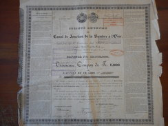 CANAL De JONCTION De La SAMBRE à L'OISE               1880 PARIS - Navigation