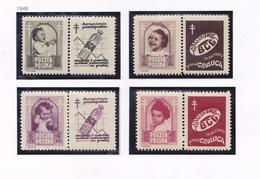 POLOGNE 1948 CROIX ROUGE 544 A 547 MH - 1944-.... Republic