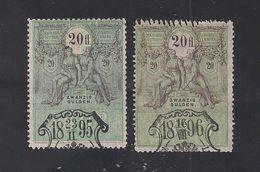 2 Austria Revenue 2x 20 Fl. 1893 - Steuermarken