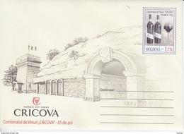 Moldova , Moldavie , Moldau  , 2017 , Cricova Winery - 65 Years , Wine , Grapes ,   Pre-paid Envelope - Moldavië