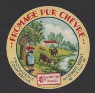Etiquette De Fromage Pur Chèvre -   From.. Coop.   De  Comméré Vouillé   (86 ) - Cheese