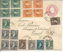 Recommandé Entier Postal 5c +complément De Buenos Aires>> Mirecourt 1898 - Argentine