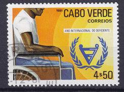 Cape Verde 1981 Mi. 444    4.50 E Internationales Jahr Der Behinderten Rollstuhlfahrer Emblem - Kap Verde