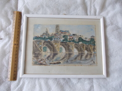 TABLEAU Peintre Marcel Bertoin Limoges Pont Cathédrale - Altre Collezioni