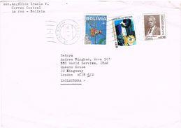 25949. Carta Aerea LA PAZ (Bolivia)  1994 To England - Bolivia