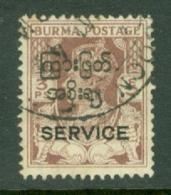 Burma: 1947   Official - Interim Burmese Govt 'Service' OVPT - KGVI   SG O41   3p    Used - Birmanie (...-1947)