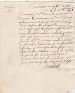 Manuscrit N° 25 - 1/6/1756 Contrainte - Bureau Du Doignon ? Sieur De La Jarrige  Arnac Fiel Des Roziers( Corrèze ) - Manuscrits